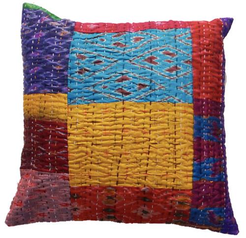"Timbergirl 24"" Silk Kantha VIntage Cushion Covers single"
