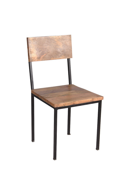 Timbergirl Reclaimed Wood and Metal chair - Set of 2