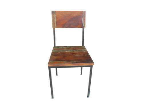 Timbergirl Old Reclaimed Wood and Metal chair 1