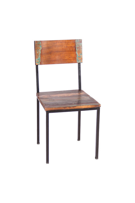 Timbergirl Old Reclaimed Wood and Metal chair 4