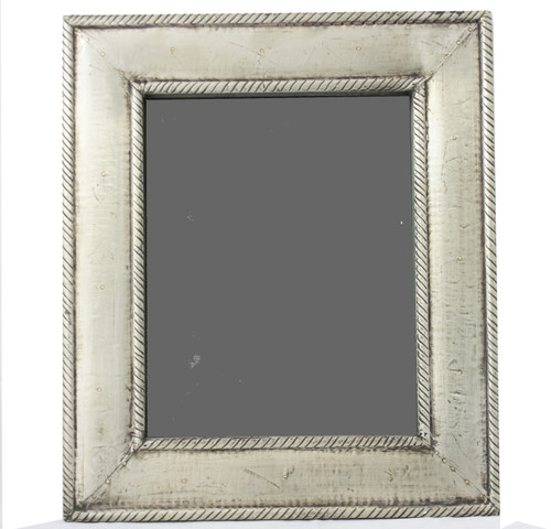 Metal Clad Wood Picture Frame-Silver