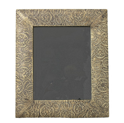 Brass Clad Wood Picture Frame-Paisley