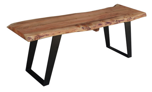 Timbergirl solid wood live edge Bench Small