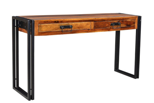 Solid Seesham Wood Console Table with Metal Legs AA1275SH 3