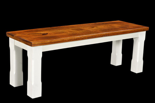 Timbergirl Mysore Farmhouse Chic Bench - 50""