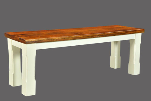 Timbergirl Mysore Farmhouse Chic Bench - 60""