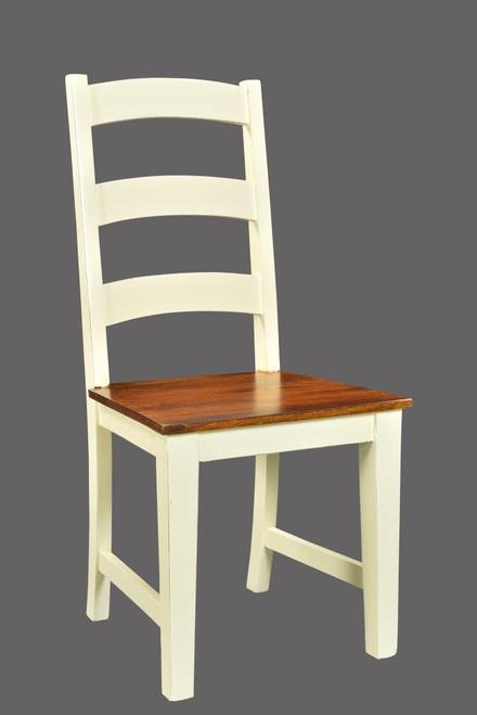 Timbergirl Mysore Farmhouse Chic Acacia Chair  -Set of 2
