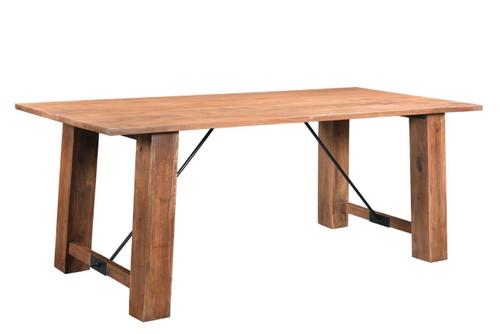 "Timbergirl Angled Acacia wood Dining Table - 71"""