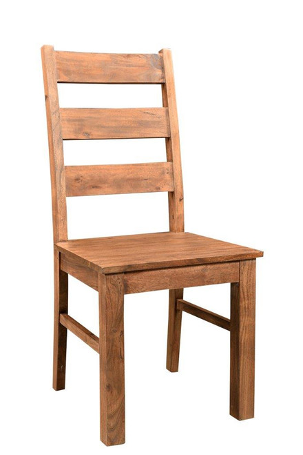 Timbergirl Angled Acacia Wood Chair  -Set of 2