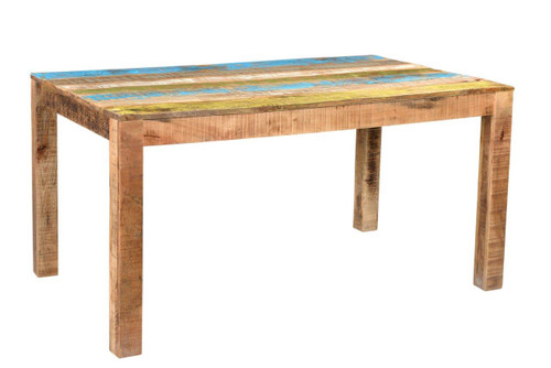Timbergirl Suman Rustic Multicolor Dining Table