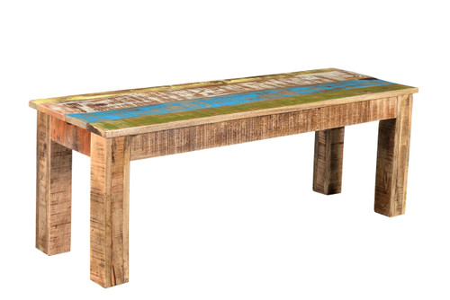 """Timbergirl Suman Rustic Multicolor Bench - 50"""""""