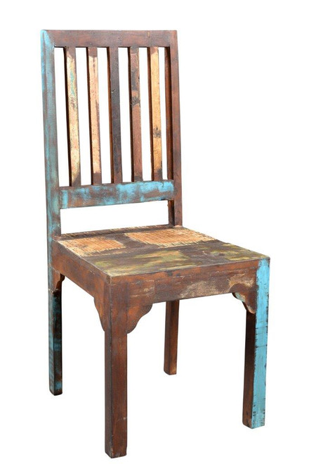 Timbergirl reclaimed wood Rustic Multicolor Chair  -Set of 2