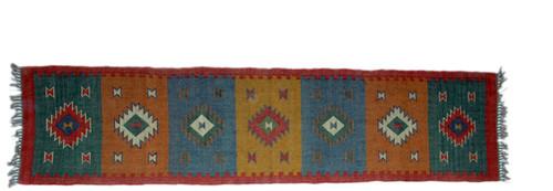 Wool Jute Kilim Rug 2.5'x8' - AA2000R9