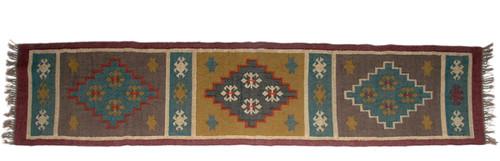 Wool Jute Kilim Rug 2.5'x8' - AA2000R14