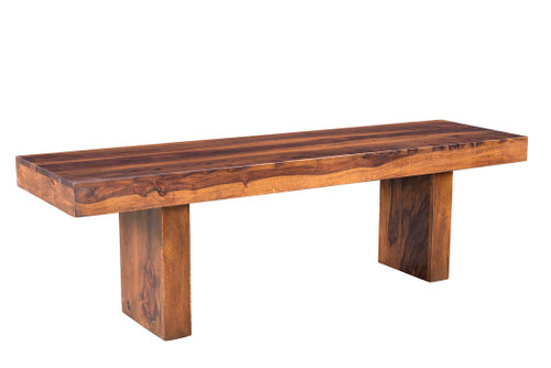 Timbergirl Solid Sheesham Wood Entryway Bench