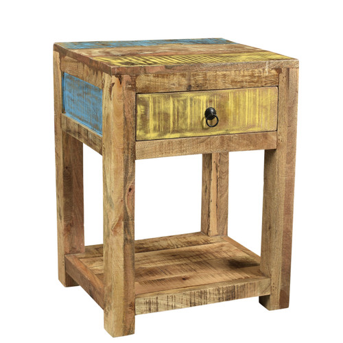 Suman Solid Mango wood end table