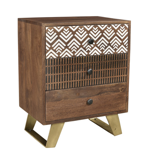 Timbergirl Olga Retro Side Table with Drawers