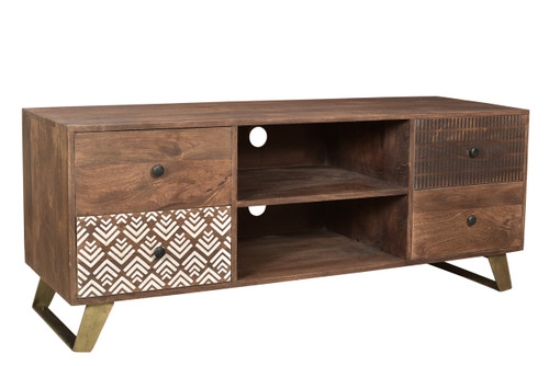 Timbergirl Olga Retro TV Console with Drawers