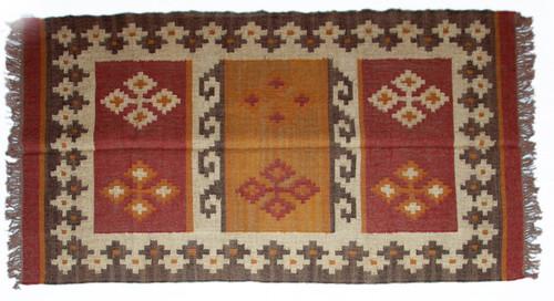 Wool Jute Kilim Rug 4'x6' - 4000R22
