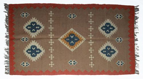Wool Jute Kilim Rug 4'x6' - 4000R24