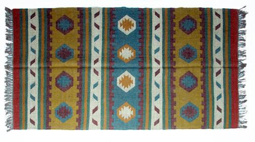 Wool Jute Kilim Rug 4'x6' - 4000R25