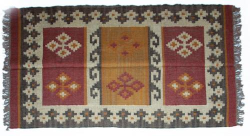 Wool Jute Kilim Rug 4'x6' - 4000R26