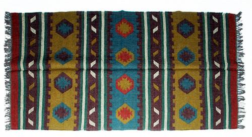 Wool Jute Kilim Rug 4'x6' - 4000R27