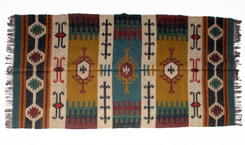 Wool Jute Kilim Rug 4'x6' - 4000R28