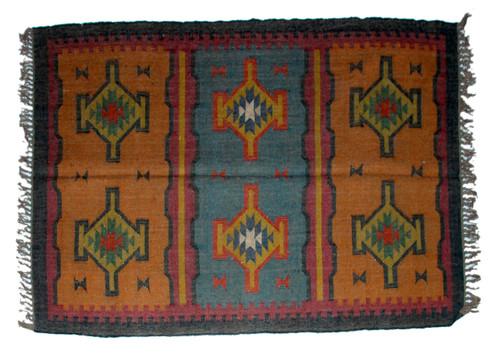 Wool Jute Kilim Rug 4'x6' - 4000R29