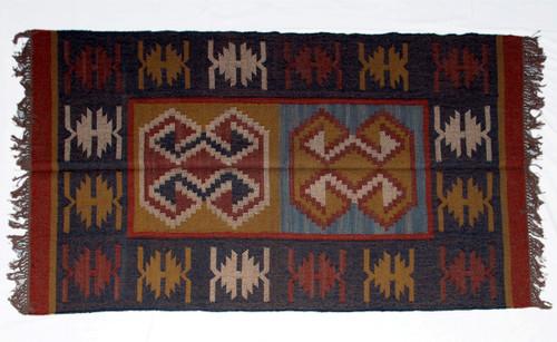 Wool Jute Kilim Rug 4'x6' - 4000R31