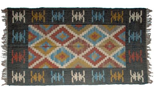 Wool Jute Kilim Rug 4'x6' - 4000R32