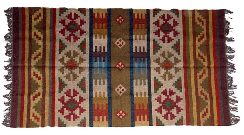 Wool Jute Kilim Rug 4'x6' - 4000R33