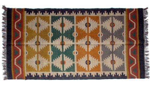Wool Jute Kilim Rug 4'x6' - 4000R36