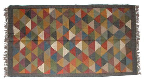 Wool Jute Kilim Rug 4'x6' - 4000R37