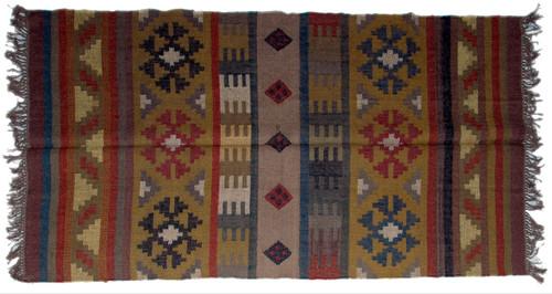 Wool Jute Kilim Rug 4'x6' - 4000R39