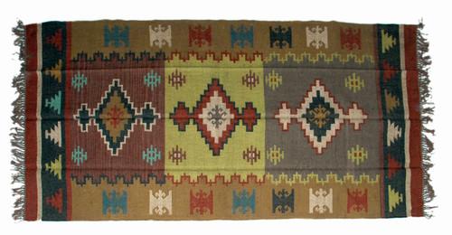 Wool Jute Kilim Rug 5'x8' - 5000R22