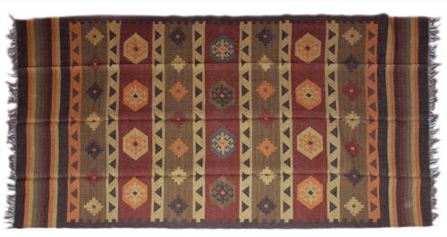 Wool Jute Kilim Rug 6'x9' - AA6000R11