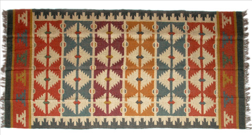 Wool Jute Kilim Rug 6'x9' - AA6000R12