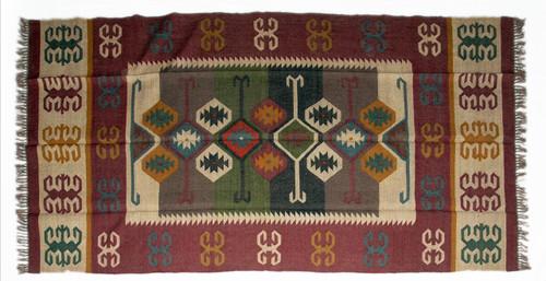 Wool Jute Kilim Rug 6'x9' - AA6000R13