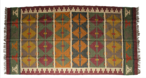 Wool Jute Kilim Rug 6'x9' - AA6000R15