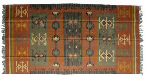 Wool Jute Kilim Rug 6'x9' - AA6000R18