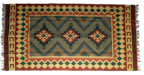 Wool Jute Kilim Rug 6'x9' - AA6000R19