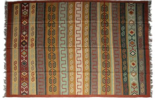 Wool Jute Kilim Rug 8'x10' - AA8000R1