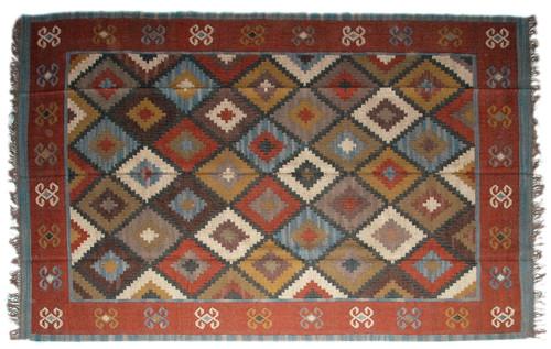 Wool Jute Kilim Rug 8'x10' - AA8000R2