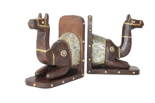 Handcrafted Camel Bookend PAIR