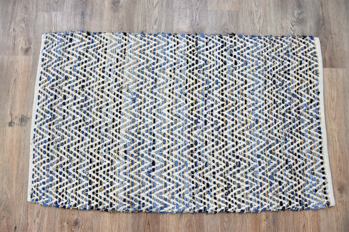 Timbergirl Denim Natural Cotton and Hemp Handmade Rug