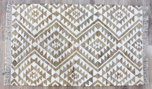 Timbergirl Kilim Beige Jute and Wool Handmade Rug