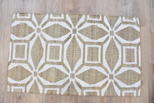 Timbergirl Geometric Cream Handmade Rug