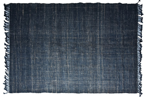 Timbergirl Textured Indigo 100% Jute Handmade Rug