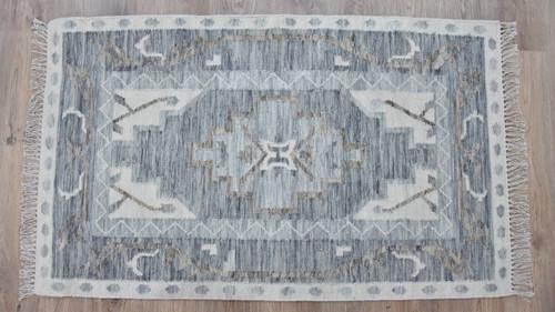 Timbergirl Kilim Blue Wool Handmade Rug